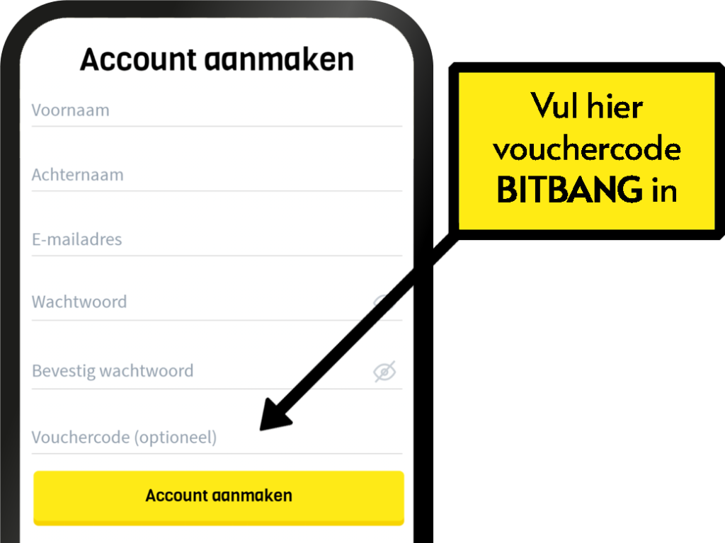 Gratis Bitcoin - in de app - Bitbang